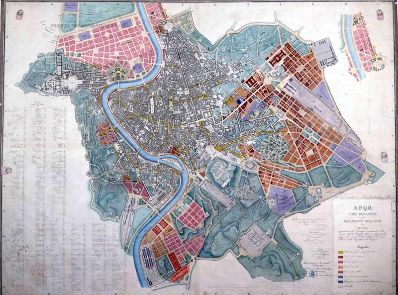 1883. Piano Regolatore di Roma