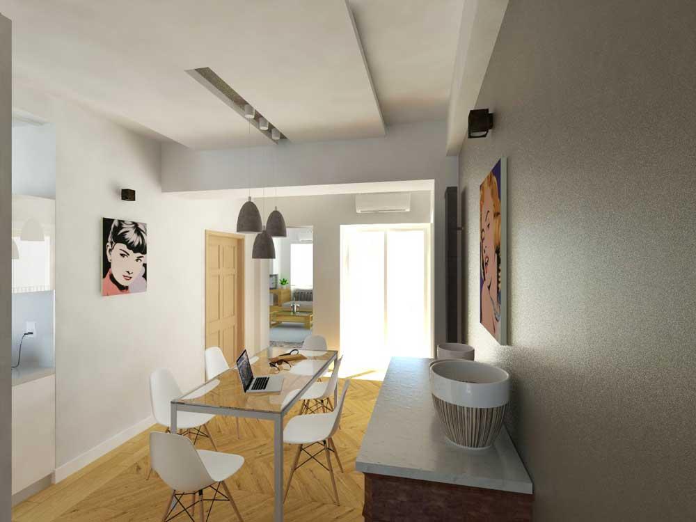 CASA-AI-render-living-pranzo venendo dalla zona notte - architetturaincasa