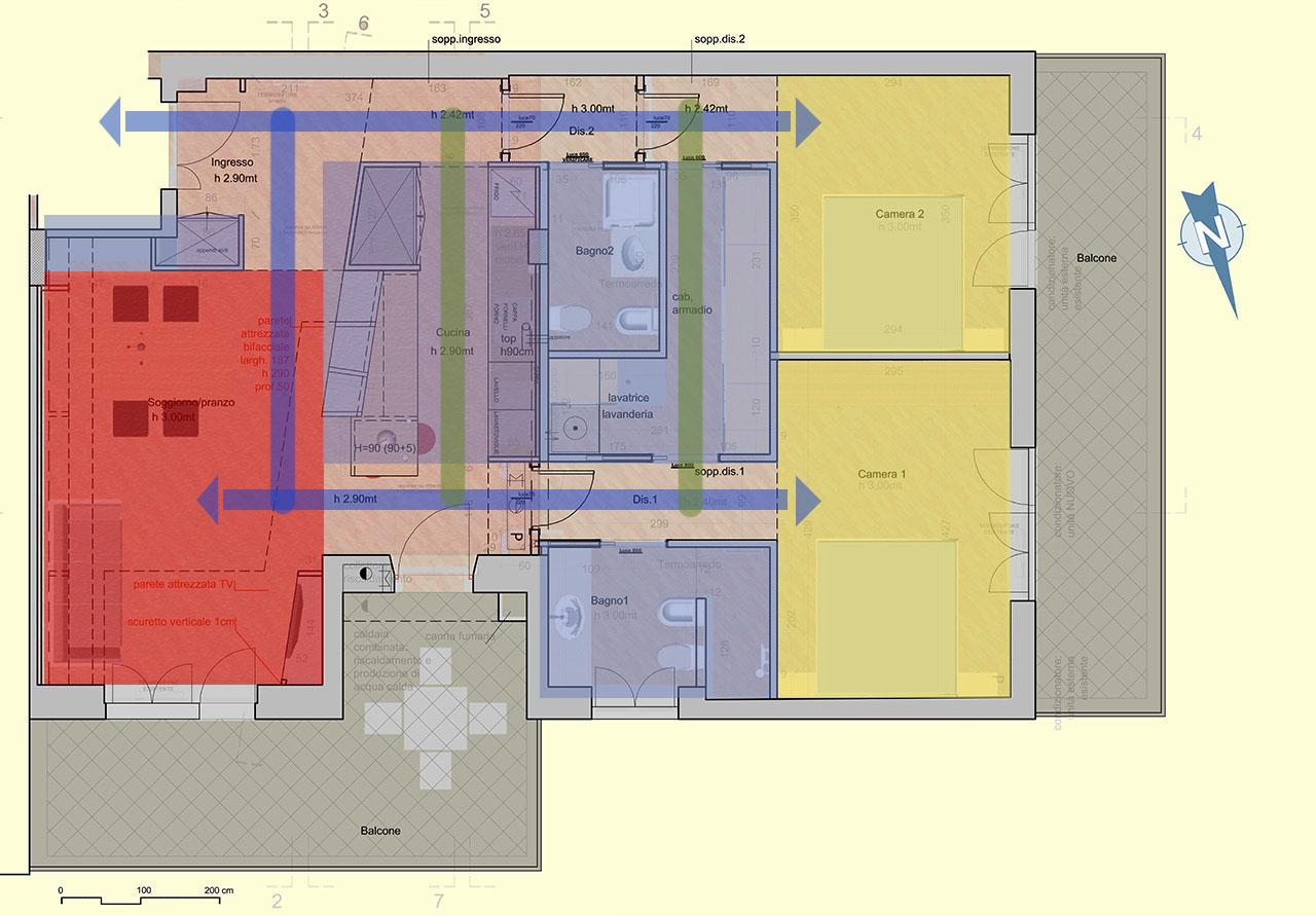 Casa IR –planimetria schema