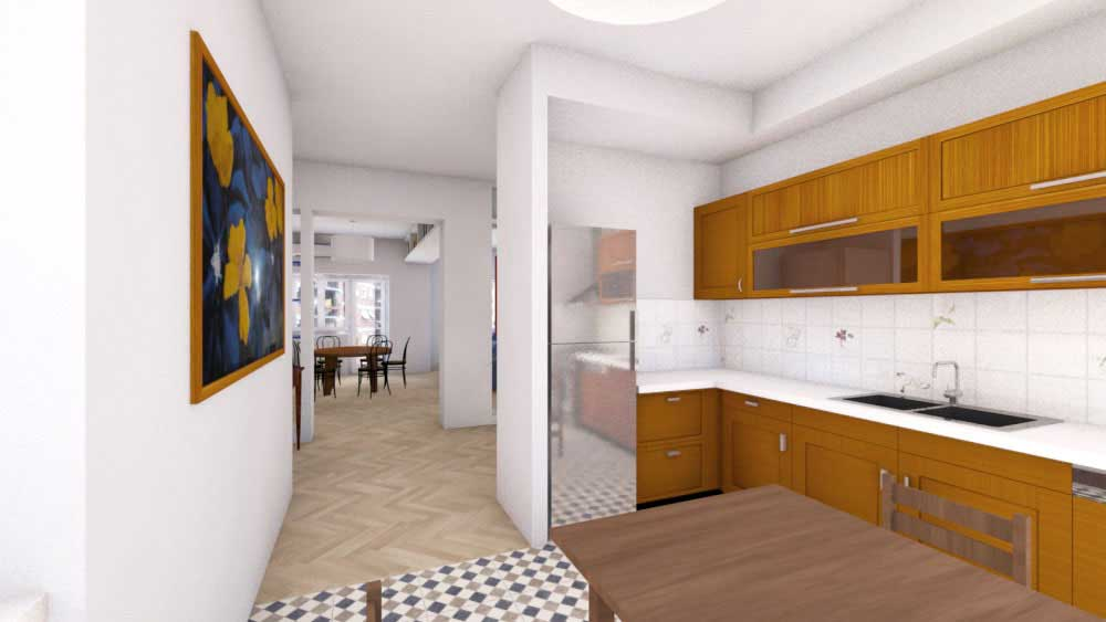 Casa-SG-3d-fotorealistico- cucina - architetturaincasa