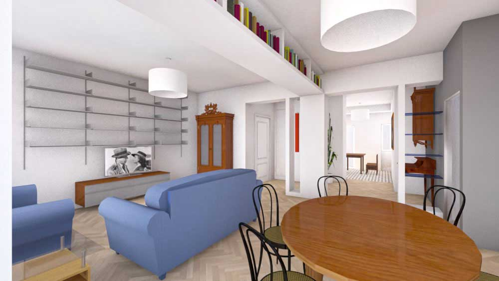 Casa-SG-3d-fotorealistico soggiorno - architetturaincasa