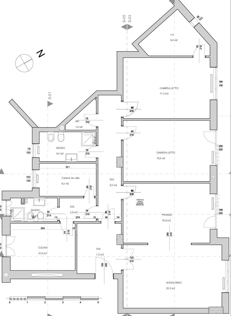 Casa SG - pianta ante operam - architetturaincasa