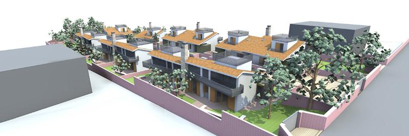 immagine di progetto vista da monte