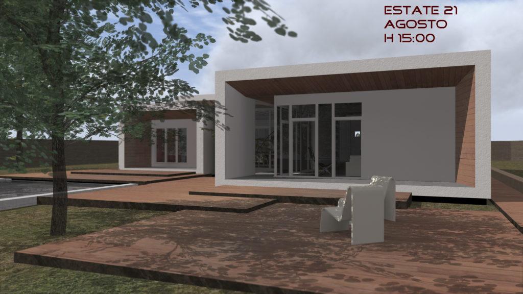 Orientamento bioclimatico - esterno - h15 estate