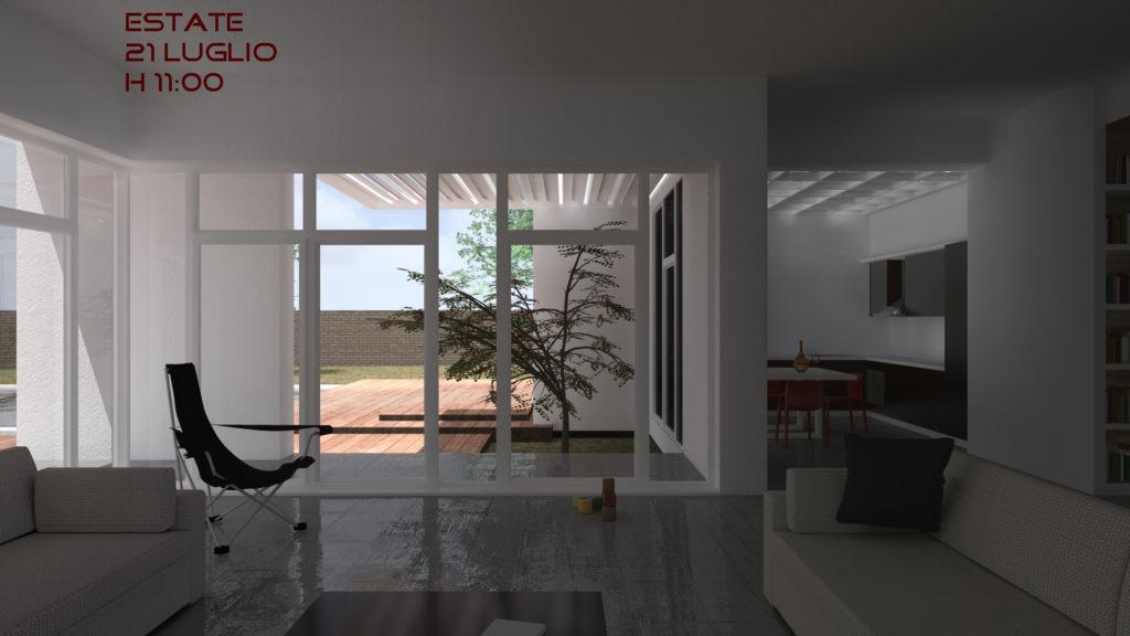 Villa B interno vista - h11 estate