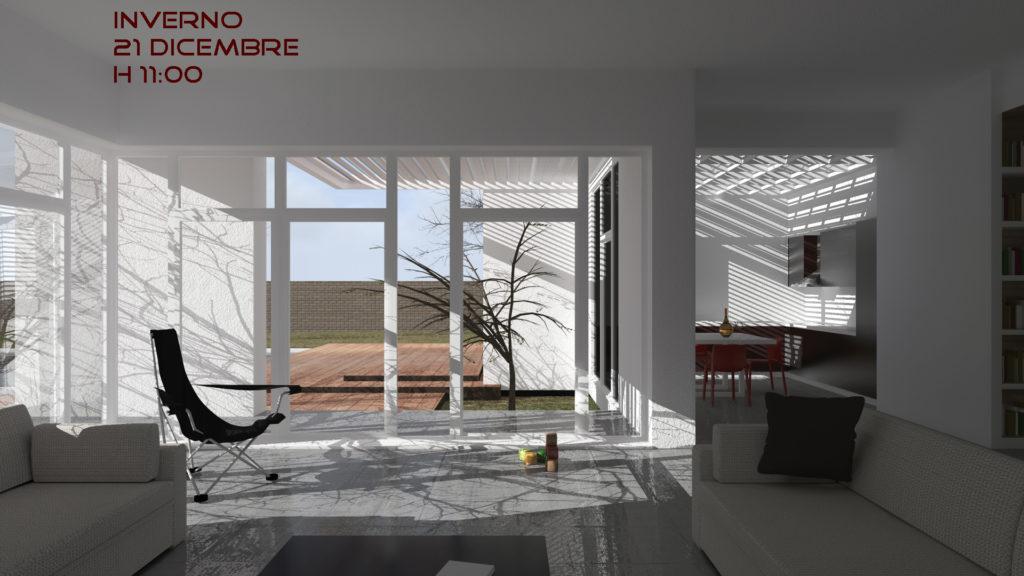 Villa B interno vista - h11 inverno