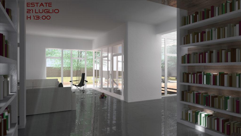 Villa B interno vista - h13 estate