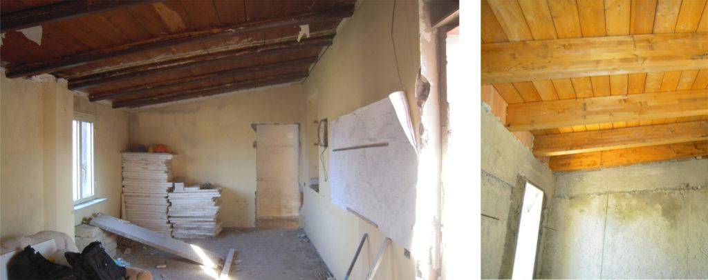 Casa BV - rifacimento della copertura prima e dopo