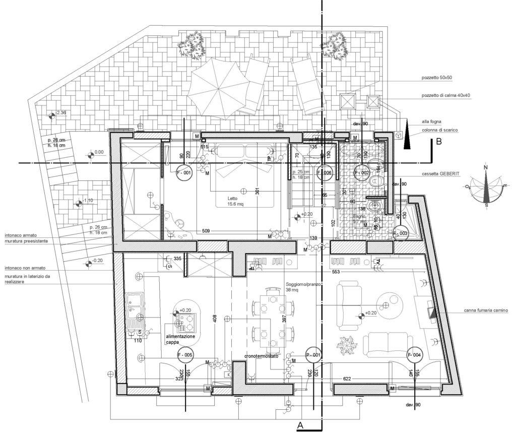 casa BV - planimetria di progetto