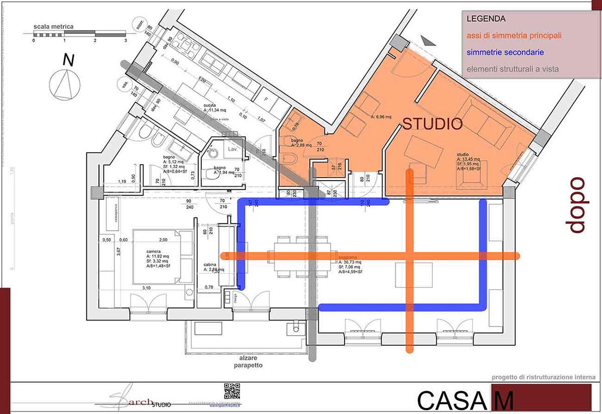 Casa 60 Mq Pianta casa m – casa e studio professionale - architetturaincasa