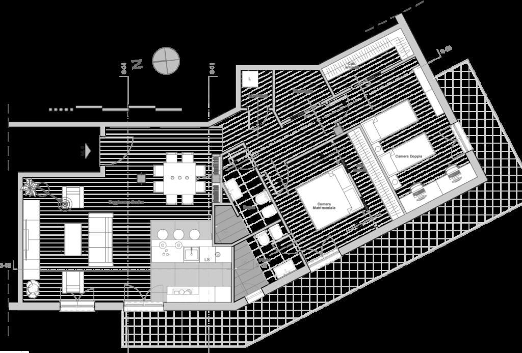 pianta di progetto ristrutturazione  - Casa C