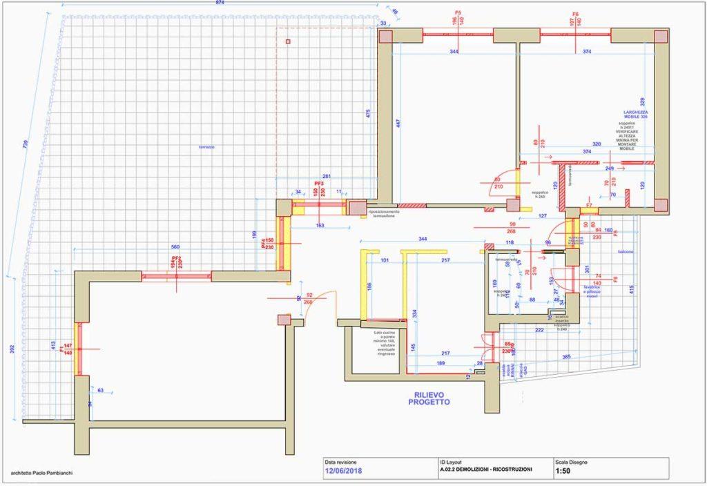 casa AI - Planimetria prima dei lavori