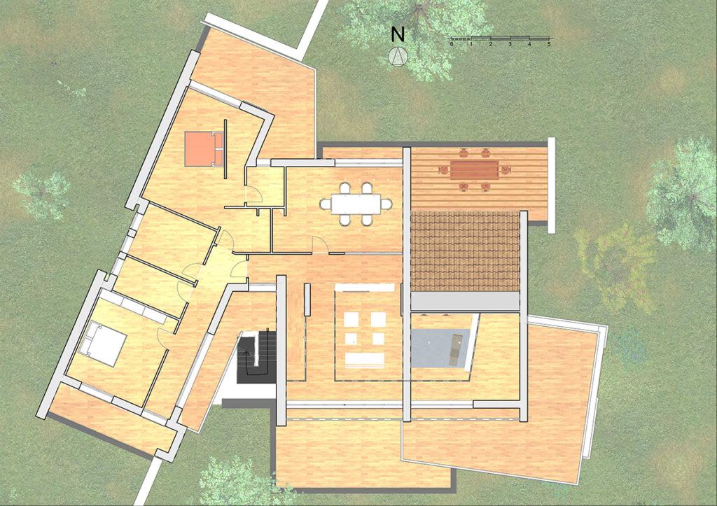 Villa AF – pianta piano Primo