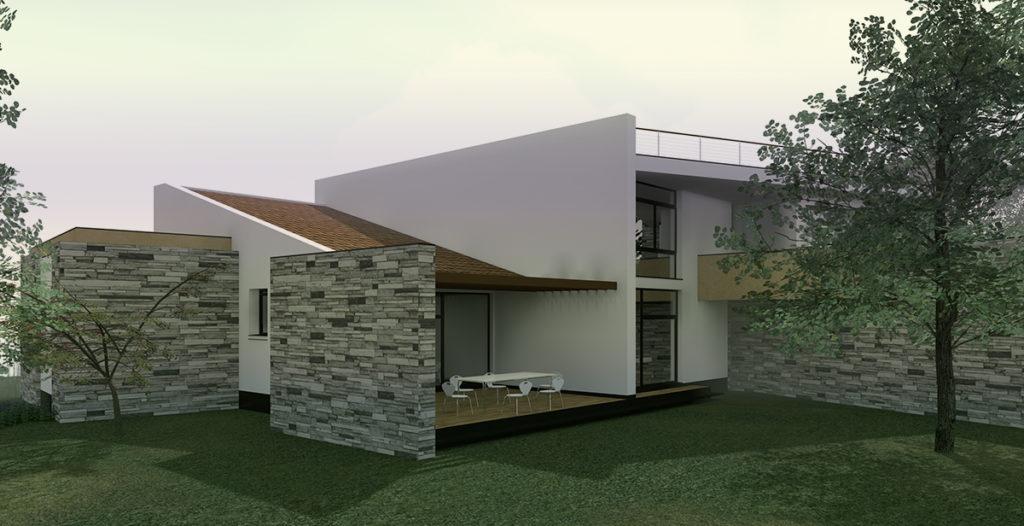 Villa AF – vista da sud-ovest