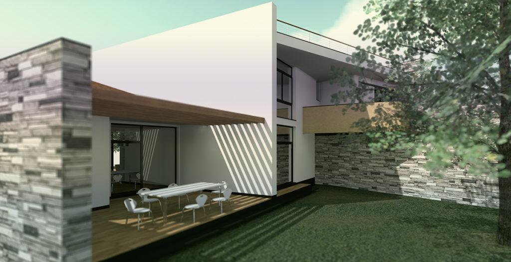 Villa AF – portico a nord