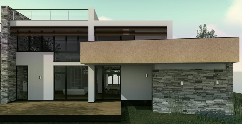 Villa AF – vista diurna dell'esterno – prospetto-Sud2 giorno