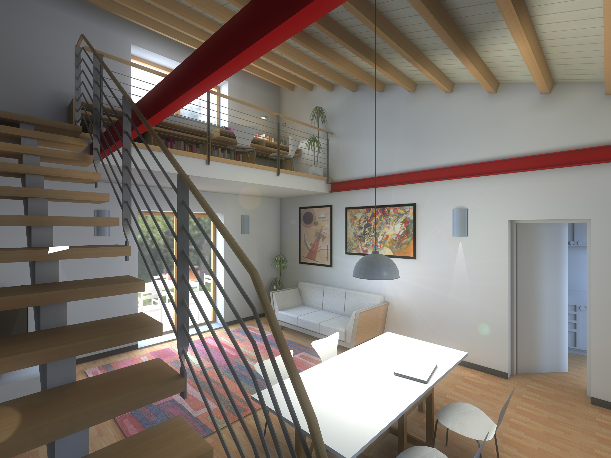 villino LCN - soggiorno con doppia altezza